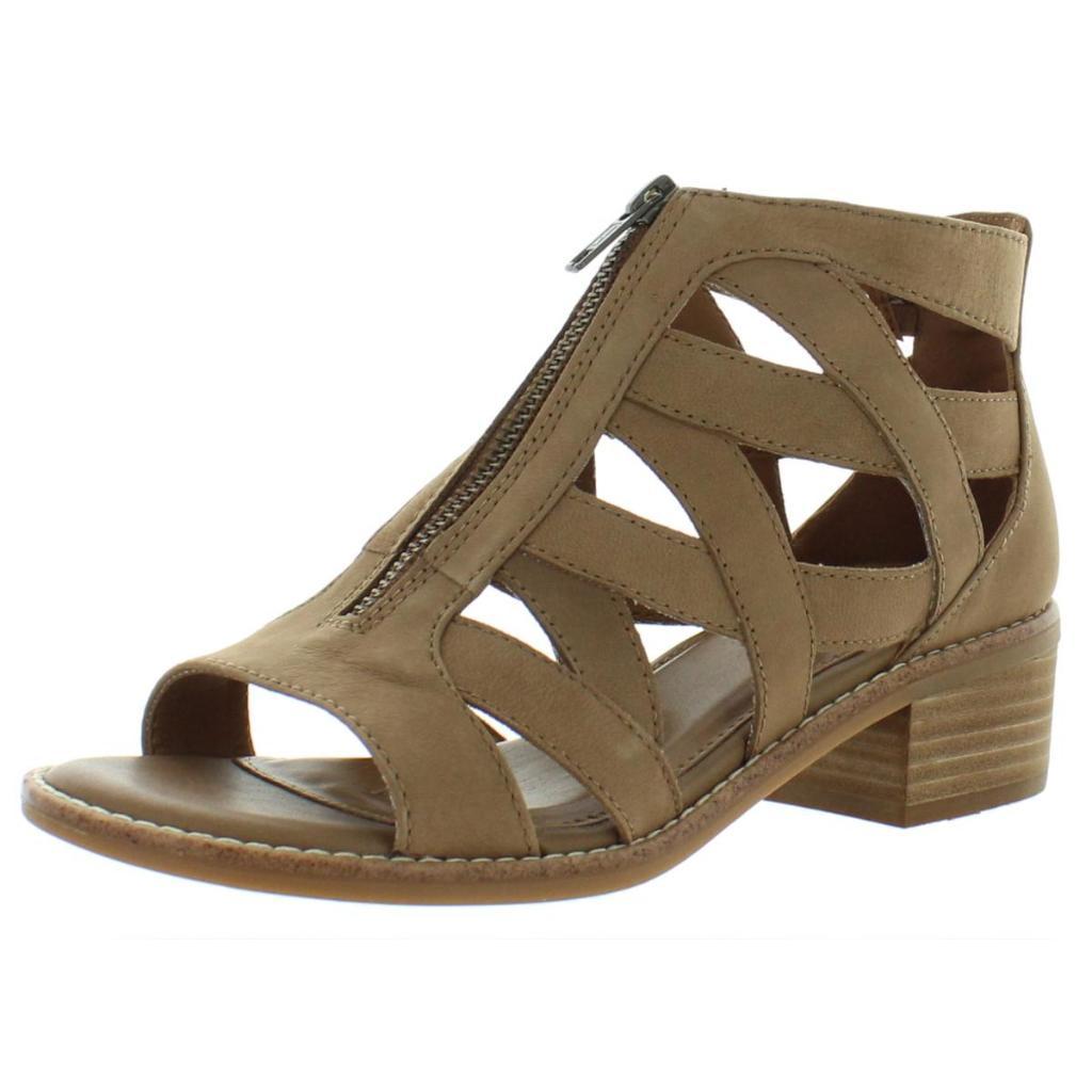 Comfortiva Womens Bianna Nubuck Ankle Gladiator Sandals