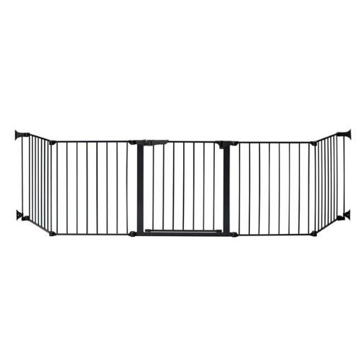 Kidco G3111 Black Auto Close HearthGate Pet Gate, 128 x 24 in.