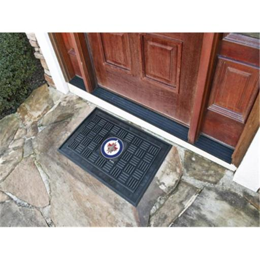 Fanmats 11480 NHL - 19 in. x30 in. - NHL - Winnipeg Jets Medallion Door Mat