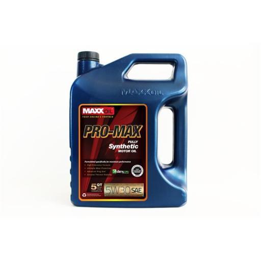 Maxx Oil PM-5W30-5Q Pro Max 5W30 Fully Synthetic Motor Oil - 5 qt