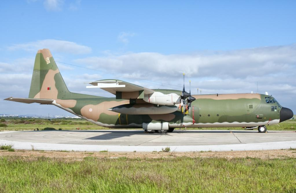 A Portuguese Air Force C-130H Hercules at Montijo Air Base, Portugal. Poster Print