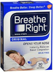 Breathe Right Nasal Strips Original Tan Small/medium - 30 Ct, Pack Of 3