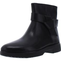 Fitflop Womens Knot Leather Almond Toe Ankle Boots