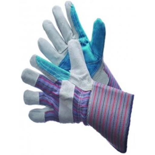 Major Gloves & Safety 30-3111-S Joint Leather Double Palm Work Gloves - Small, Pack of 6