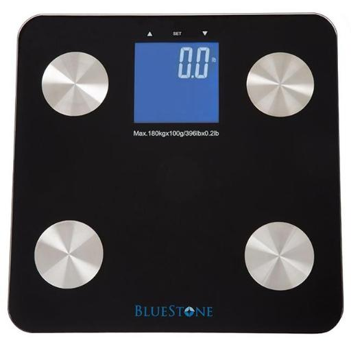 Bluestone M010030 Digital Body Fat Scale with Large LCD Display - Black