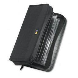 Case Logic CDW64 CD/DVD Wallet Holds 72 CDs  Nylon  Black
