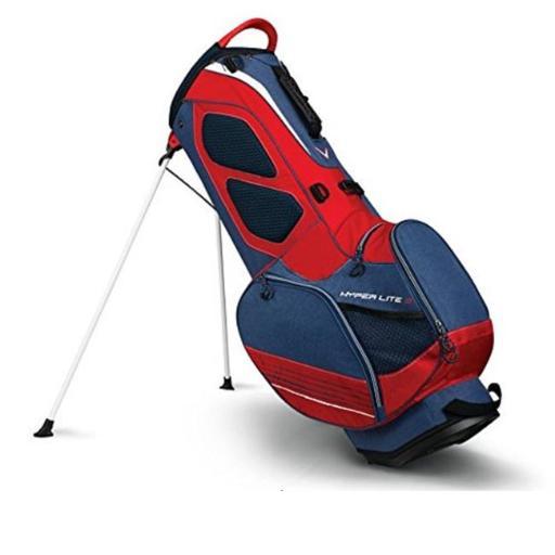 Callaway 1110179 Hyper Lite 3 Golf Stand Bag - Navy, Red & White