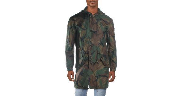 Polo Ralph Lauren Mens Benton Camo Parka Anorak Jacket