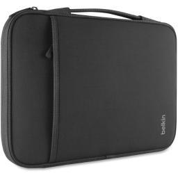 Belkin components b2b064-c00 13in laptop/chromebook sleeves black. internal case dimensions. 12.8in x 8.9in x