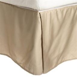 Luxor Treasures-Executive 3000 MF3000QNBS 2LTN Executive 3000 Series Queen Bed Skirt, 2 Line Embroidery - Tan