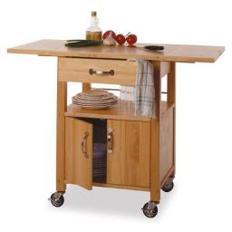 Beech Beechwood KITCHEN CART DROP LEAF