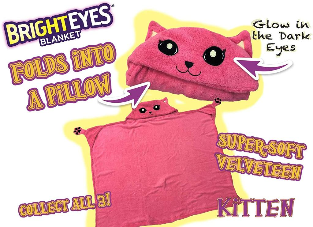 Bright Eye Blanket - Pink Cat