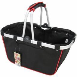 JanetBasket NB013-L JanetBasket Large Aluminum Frame Basket-18''X10''X9.5'' Black & Red