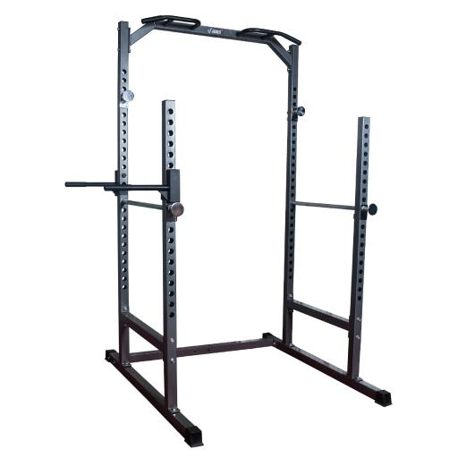 AKONZA Half Power Cage Squat Dip Station Power Rack Bench Pull Up Chin-Up