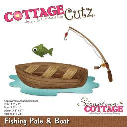 """CottageCutz Die Fishing Pole & Boat .8"""" To 3.3"""""""