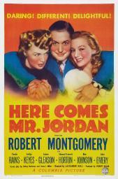 Here Comes Mr. Jordan Us Poster Art From Left: Rita Johnson Robert Montgomery Evelyn Keyes 1941 Movie Poster Masterprint EVCMMDHECOEC002HLARGE