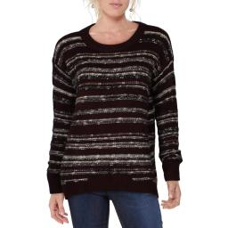 Calvin Klein Jeans Womens Hi-Low Crew Neck Pullover Sweater