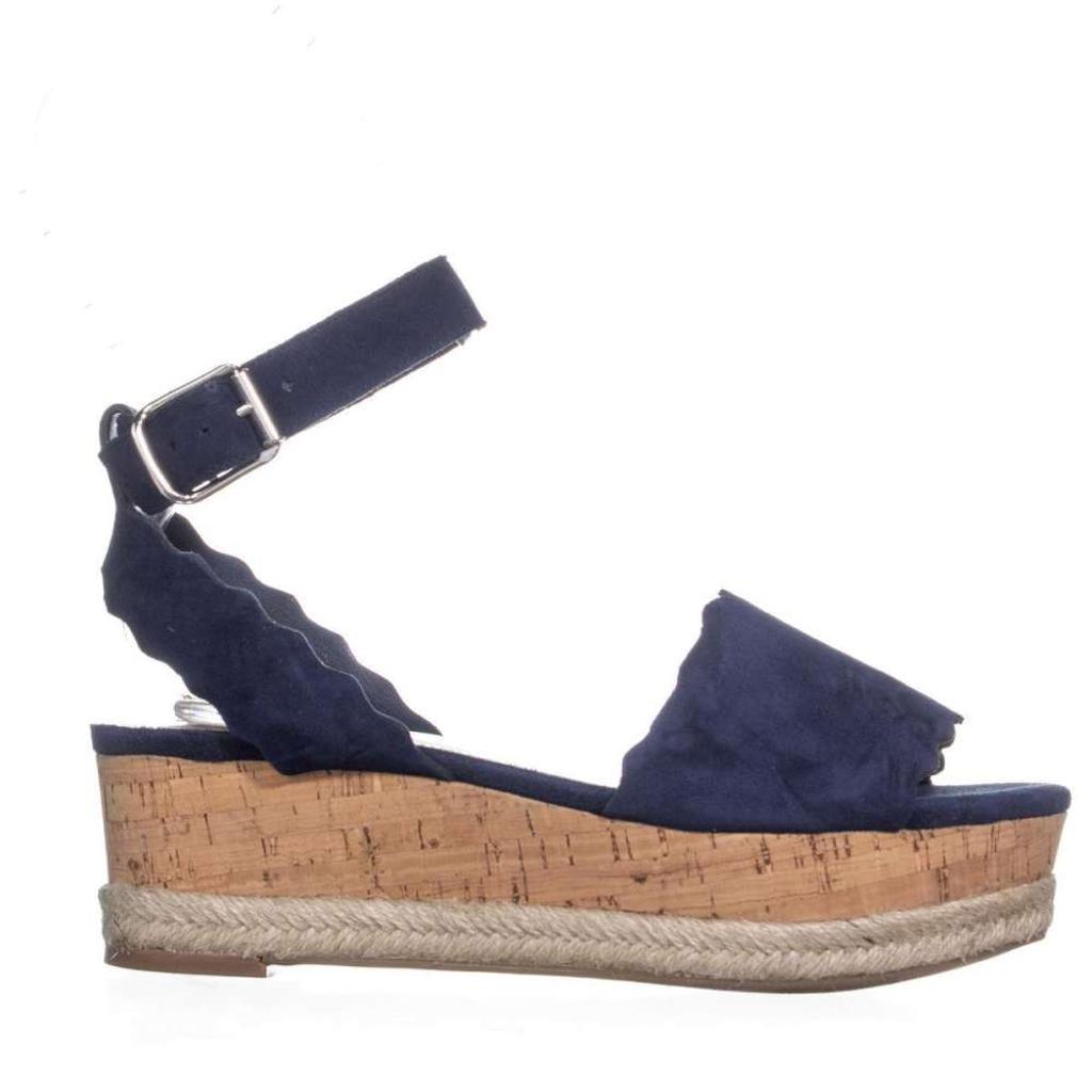 8c1a5e64790c Marc Fisher Marc Fisher Womens Faitful Flatform Esp Leather Open Toe Casual  Platform Sand...