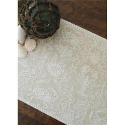 Heritage Lace CD-1420SA Crab Damask 14 x 20 in. Placemat - Sand
