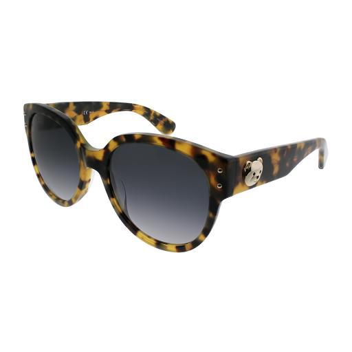 fb7c47905cdc Moschino MOS 013/S SCL 9O Yellow Havana Plastic Cat-Eye Sunglasses Dark  Grey Gradient Lens