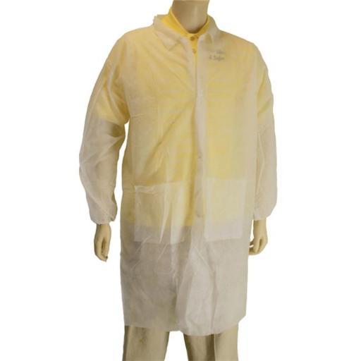 Major Gloves 00-9100-4XL Disposable Lab Coat - 4XL, Pack 30
