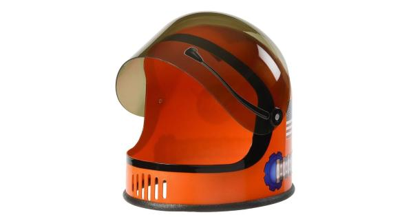 Orange NASA Child Astronaut Helmet Space USA Costume Gift Travel Youth Boys Kid