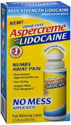 Aspercreme With 4% Lidocaine Odor Free Pain Relieving Liquid - 2.5 Oz, Pack Of 4