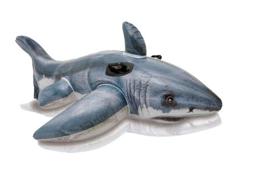 Intex 57525ep Friendly Shark Ride On Float Pool Toy, 60-1/2