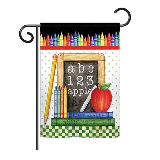Breeze Decor BD-SE-G-115116-IP-BO-DS02-US School Chalk Board Special Occasion - Everyday School & Education Impressions Decorative Vertical Garden Fla