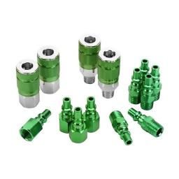 Colorconnex a71458b colorconnex 14 piece coupler & plug kit (green)