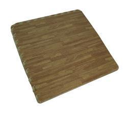 4 Piece Faux Woodgrain EVA Foam Interlocking Comfort Floor Mat Set 24x24 inch