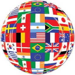 Ddi International Flag Plates (Pack Of 60)