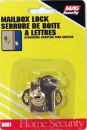 "Prime Line S 4048 Mail Box Lock, 1/4"", Brass Plated"