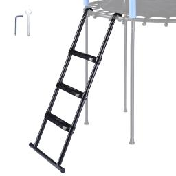 """Yescom 43"""" Trampoline Ladder 3 Step Wide Anti Skid for Kid Outdoor 15 Ft Plus Bounce"""