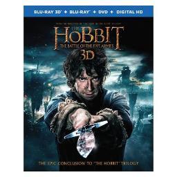 HOBBIT-BATTLE OF FIVE ARMIES (BLU-RAY/3D/DVD/5 DISC COMBO) (3-D) 794043164507