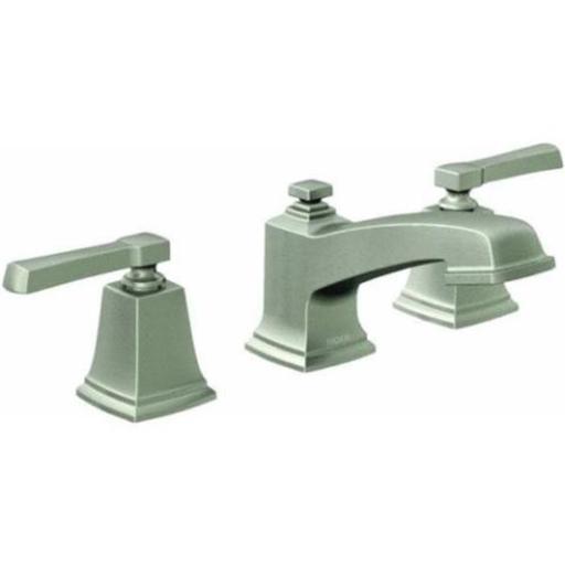 Moen WS84820SRN 2-Handle Widespread Bathroom Faucet with Pop-Up 8 to 16 in.