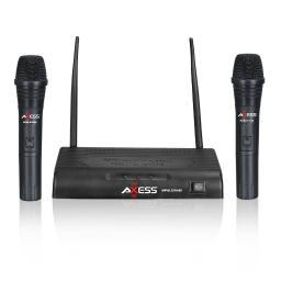 Axess  axess 150 foot long range wireless microphone with dual microphones
