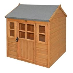 Rowlinson PHLODGE Little Lodge Kids Wooden Play House, Honey-Brown Finish