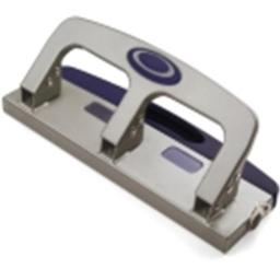 Officemate 3-Hole Punch With Pull Out Chip Drawer - Metallic Silver
