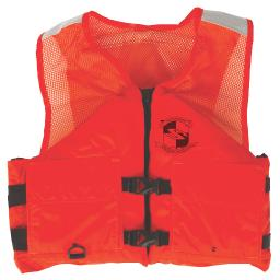 Stearns work zone gear life vest i424 l orange 2000011357