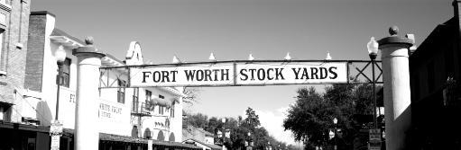 Signboard over a street, Fort Worth Stockyards, Fort Worth, Texas, USA Poster Print