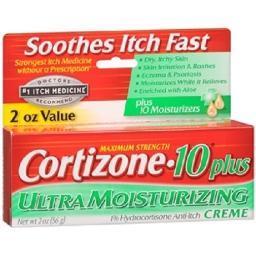 Cortizone 10 Plus Maximum Strength Ultra Moisturizing Creme 2 Oz Tube