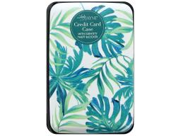 Ldj85163 lady jayne credit card case tropical fronds