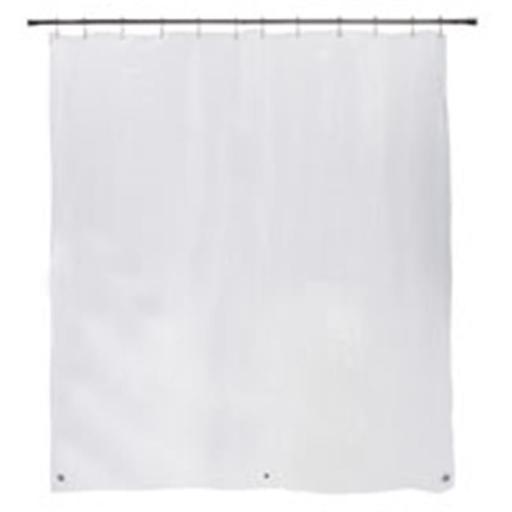 Medium Weight Peva Shower Curtain Liner, Clear