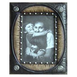 Gift Corral Western Frame Photo Memories 5x7 Black Brown 87-1206