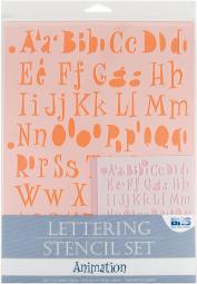 Lettering Stencil 4pc Sets Animation