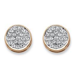 1/4 TCW Diamond Cluster Stud Earrings in Solid 10k Yellow Gold
