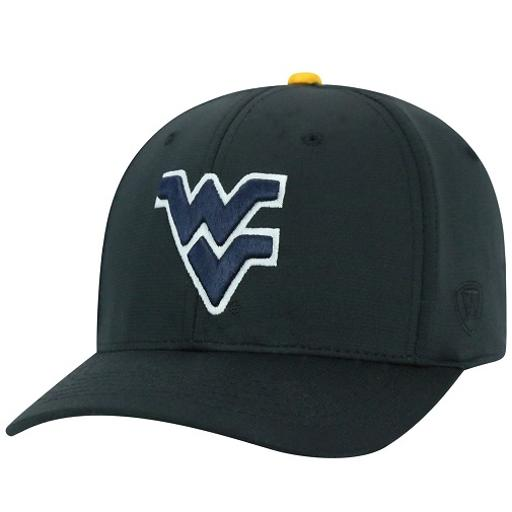 West Virginia Mountaineers NCAA TOW Impact Black Stretch Fitted Hat