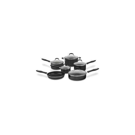 Cuisinart 54C-11BK Non-Stick Ceramic Cookware, Black - 11 Piece