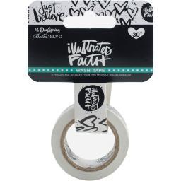 Illustrated Faith Basics Washi Tape-Just Believe